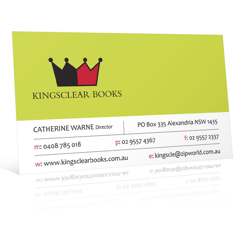 Kingsclear Books Business Card